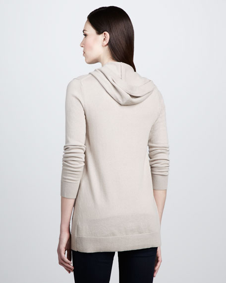 Hooded Cashmere Cardigan