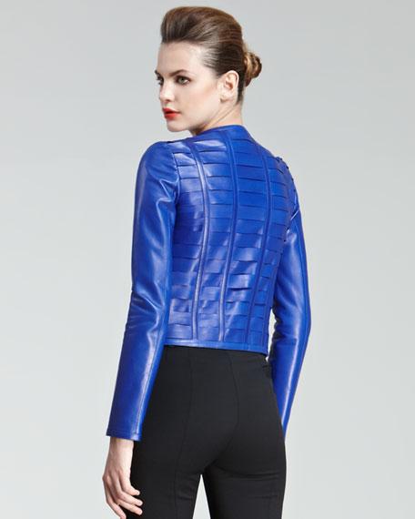 Laser-Cut Leather Jacket