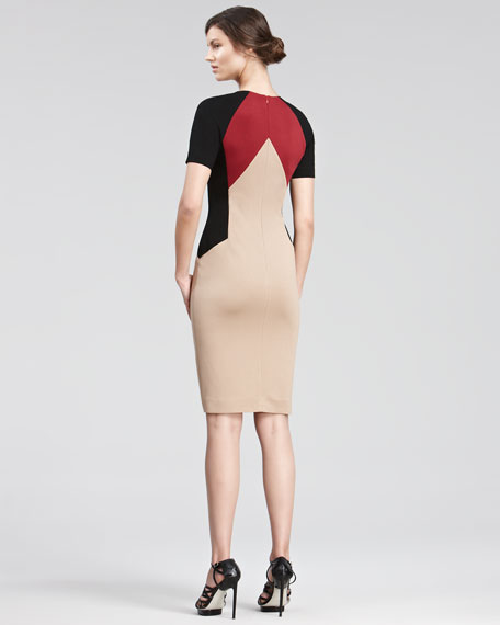 Colorblock Jersey Dress