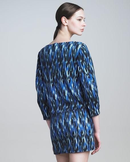 Ikat-Print Sweatshirt Dress