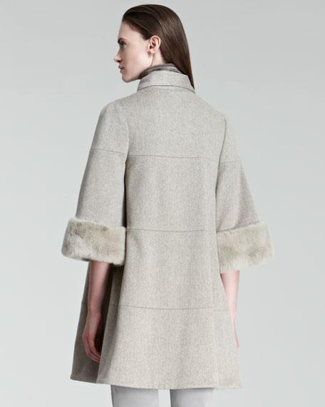 Fur-Cuff Coat