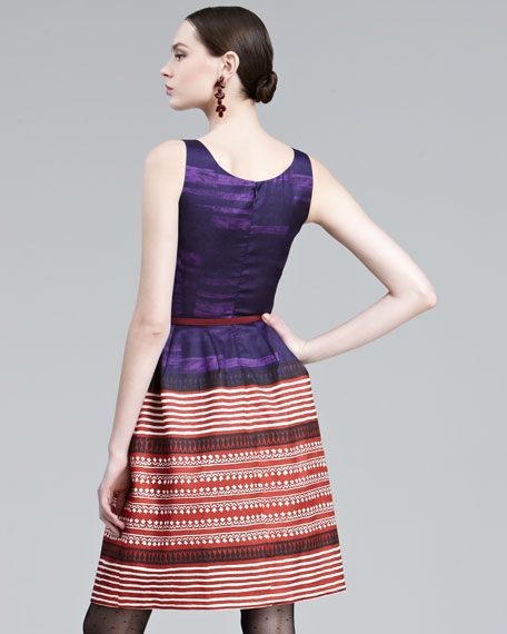 Graphic A-Line Dress