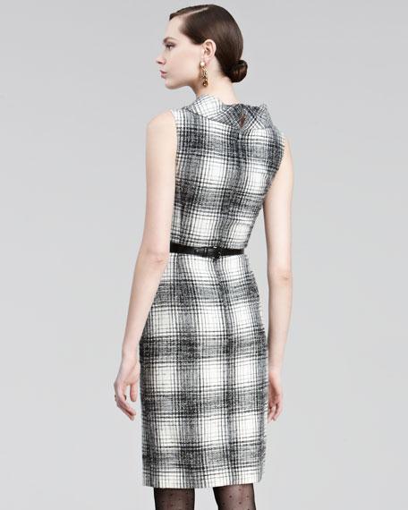 Plaid Boucle Dress