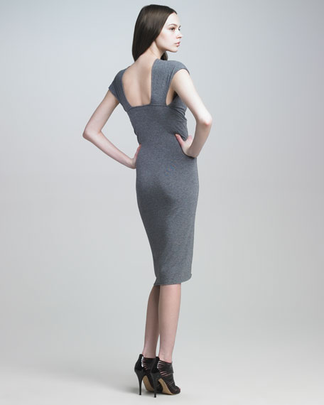 Cross-Wrap Knit Dress