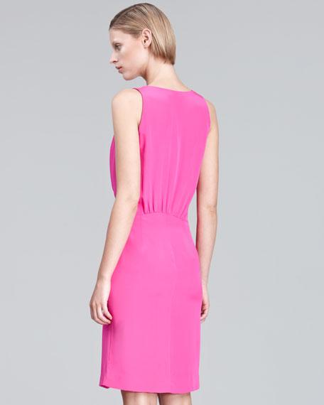 Draped-Front Dress