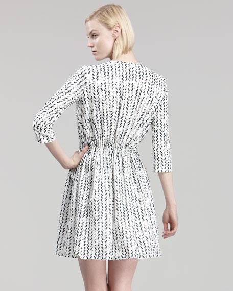 Mosaic Snake-Print Dress