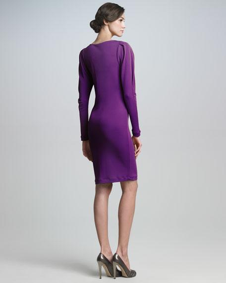 Origami-Sleeve Sheath Dress