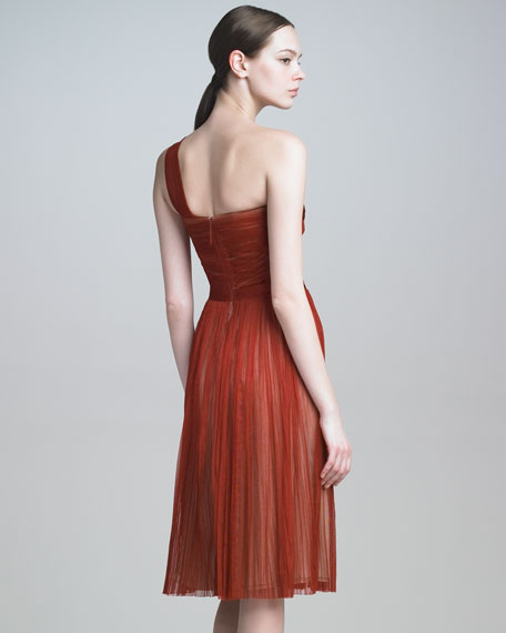 Tulle One-Shoulder Dress