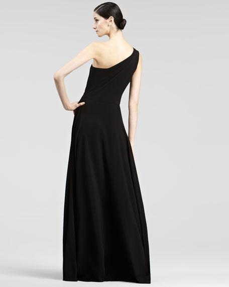 Garret One-Shoulder Gown