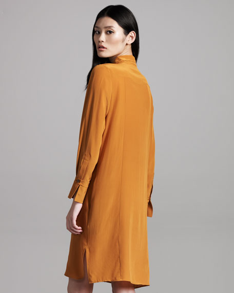 Tie-Neck Dress