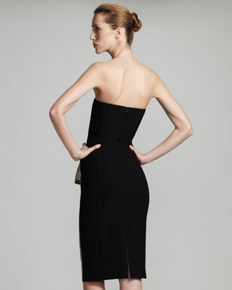 Metallic Bustier Dress