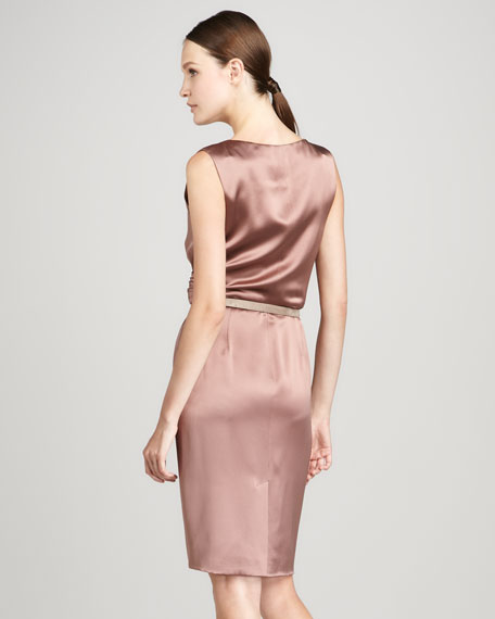 Edwina V-Neck Silk Dress