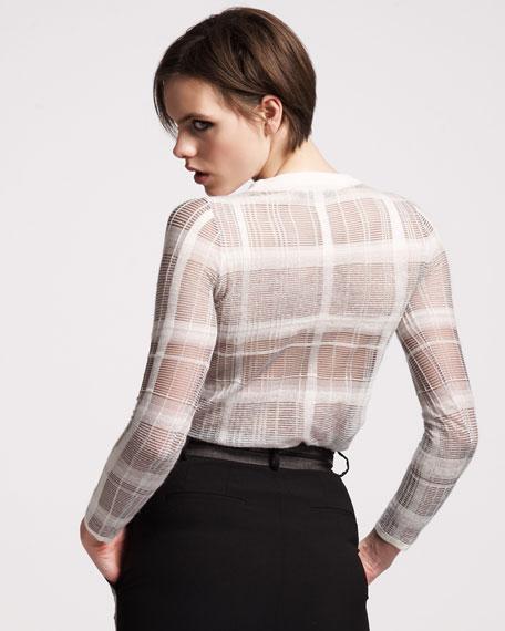 Trompe l'Oeil Plaid Sweater
