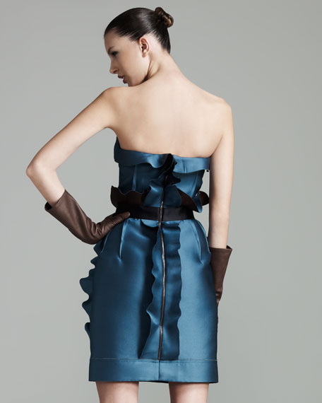 Ruffled Strapless Dress