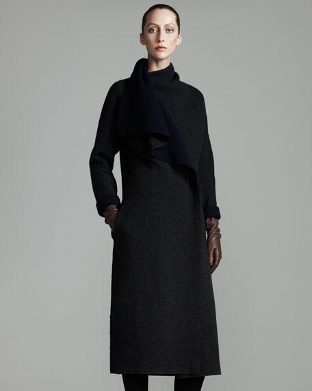 Draped-Collar Coat