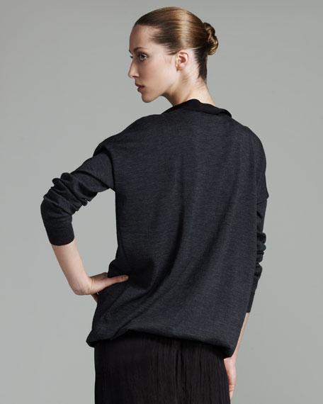 Pearl-Neck Sweater