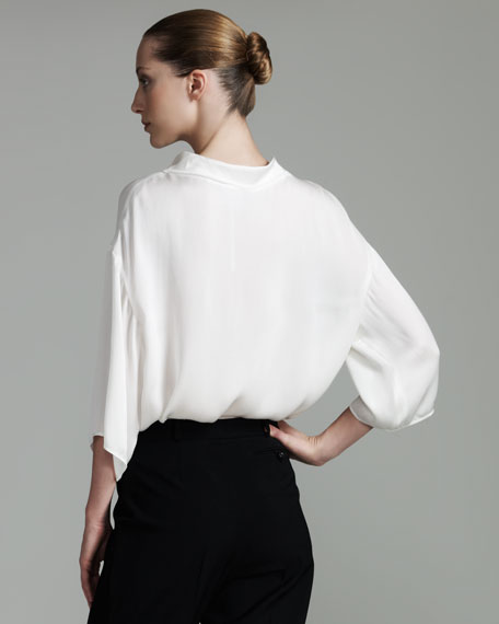 Portrait-Collar Blouse