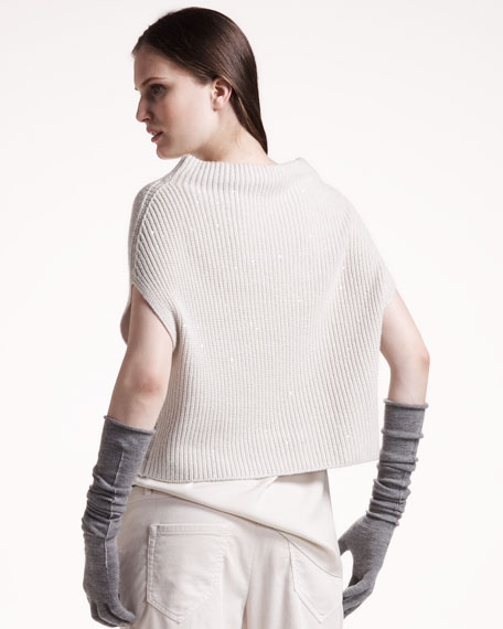 Cropped Paillette Sweater
