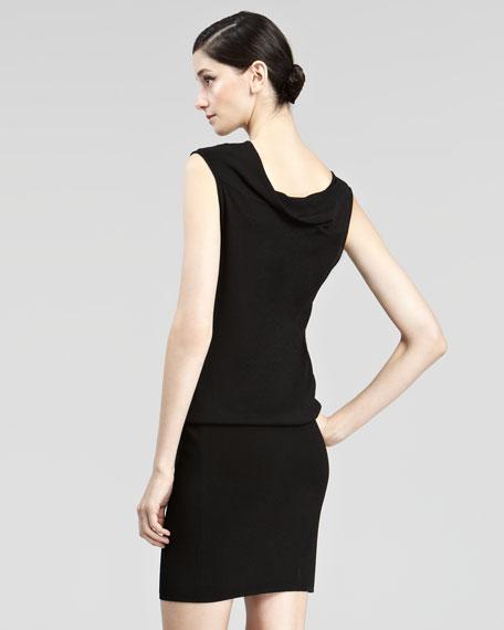 Drape-Top Jersey Dress