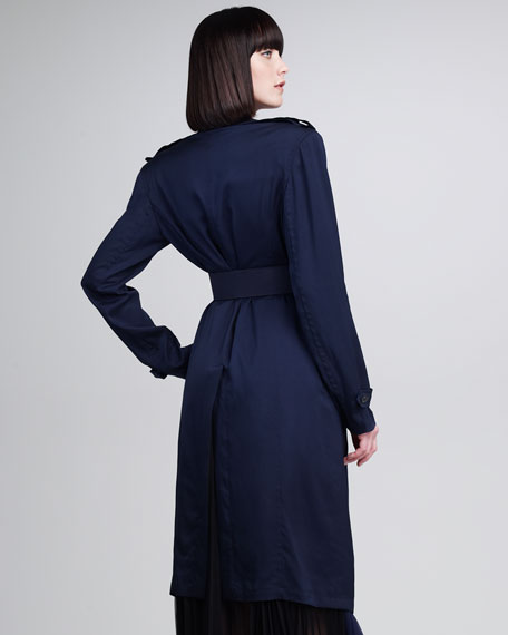 Viscose Twill Belted Trenchcoat