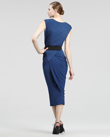 Luster Jersey Wrap Dress