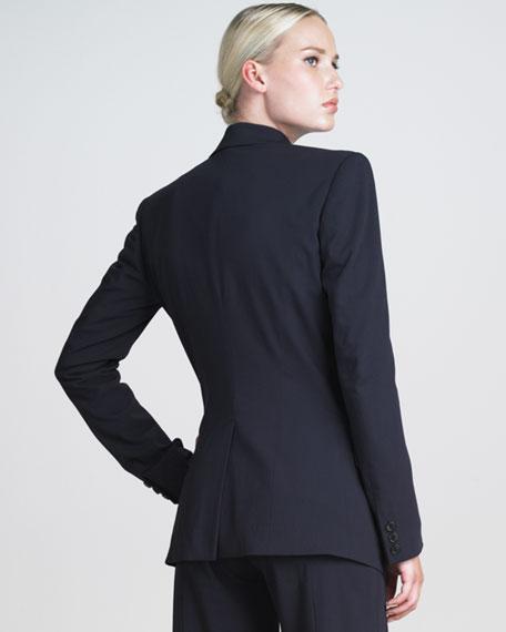 One-Button Stretch Blazer