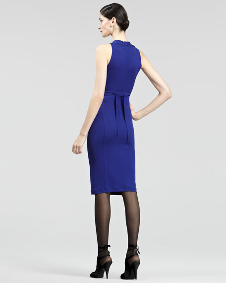 Belted Matte Jersey Dress