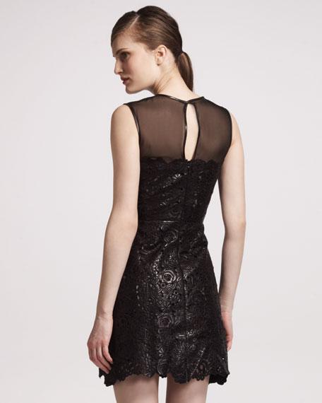 Cutout Leather Dress