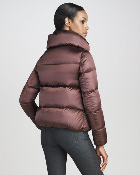 Satin-Finish Blouson Puffer Jacket