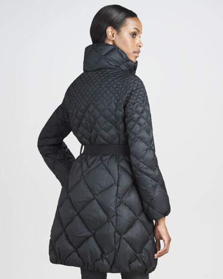 Mid-Length Diamond-Quilted Puffer Coat