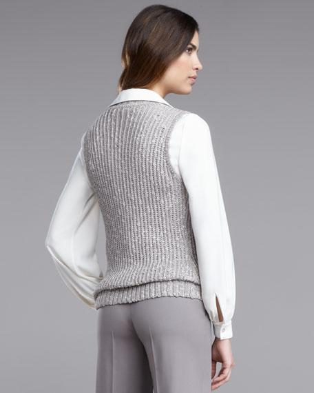 Cowl Sweater Vest