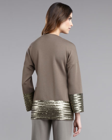 Milano Knit Jacket With Sequin Detail