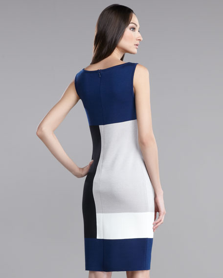 Milano Knit Colorblock Dress