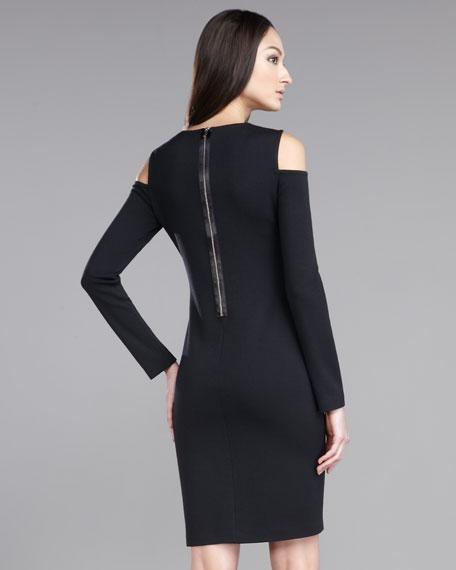 Shoulder Cutout Milano Knit Dress