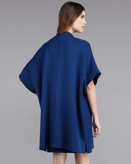 Milano Knit Cape-Sleeve Jacket