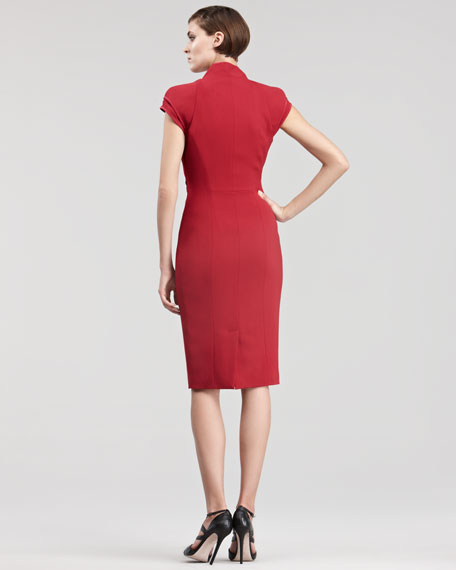 Folded Cap-Sleeve Dress