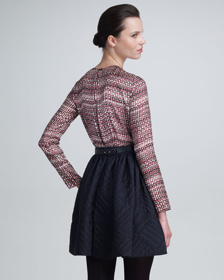 Quilted Jacquard Skirt