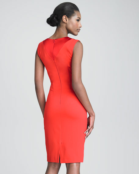V-Neck Sheath with Cutouts at Shoulders