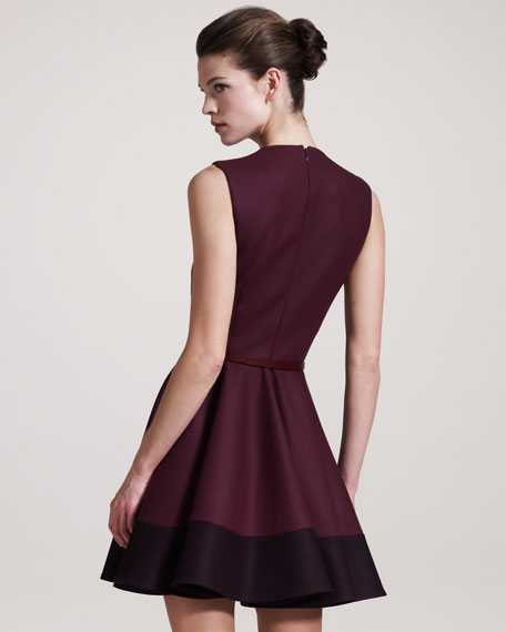 Contrast-Hem Dress