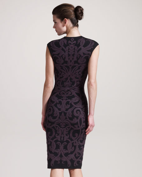 Formfitting Fil Intarsia Coupe Dress
