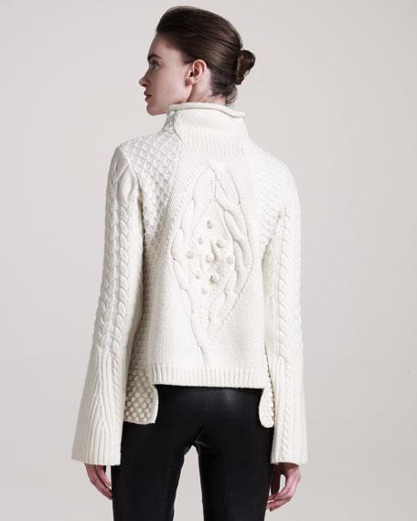 Mixed-Knit Sweater
