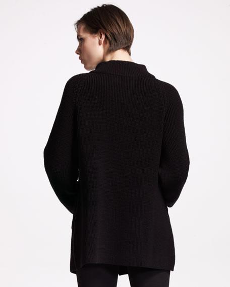 Toggle-Front Merino Sweater