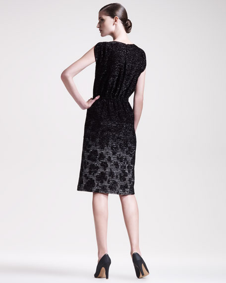 Degrade Animal-Jacquard Dress