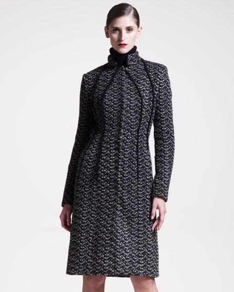 Seamed Jacquard Coat
