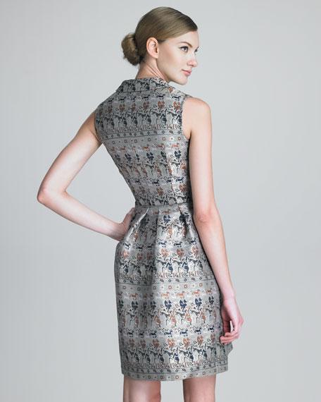 Shimmery Jacquard Dress