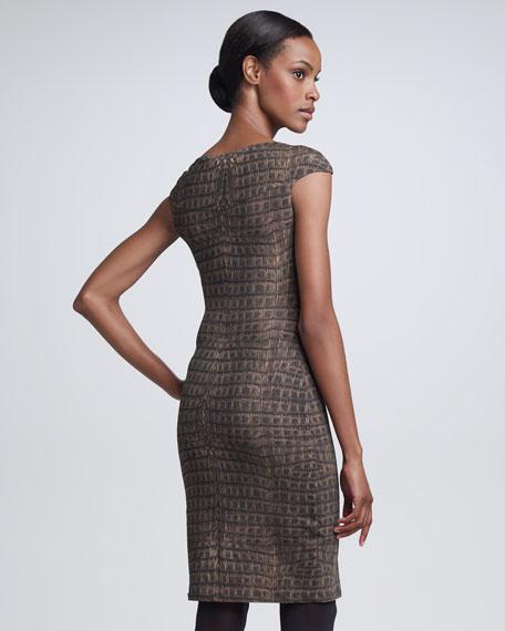 Croc-Print Dress