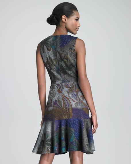 Sleeveless Flounce-Hem Dress