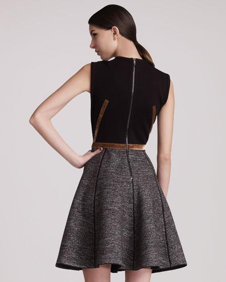 Sleeveless Combo Dress