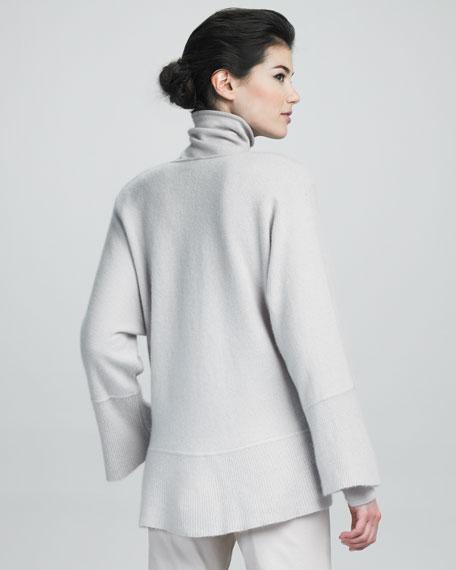 V-Neck Overlap Cashmere Sweater