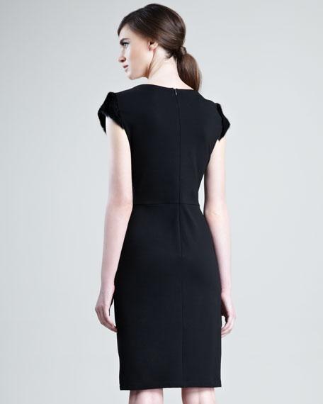 Fur-Paneled Dress